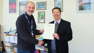 Prof. Xie Xiaodong Appointed as Part-time DoctoralTutor by University of Leicester