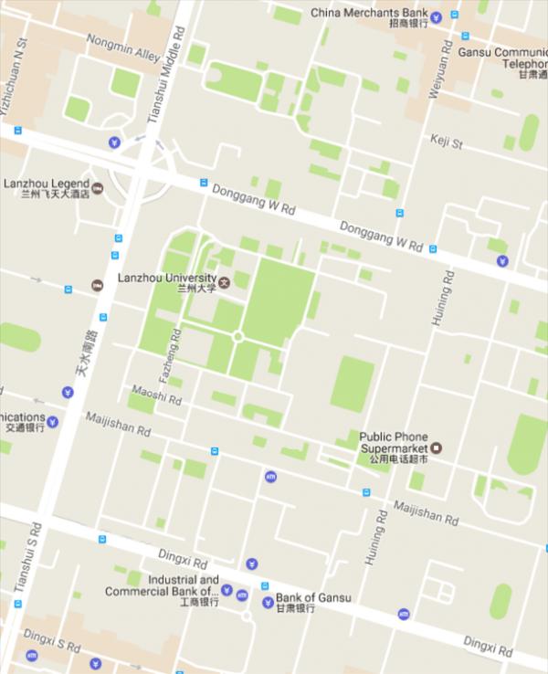 Campus Life Campus Map Lanzhou University